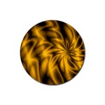 Golden Swirl Rubber Round Coaster (4 pack)