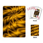 Golden Swirl Playing Cards Single Design