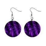 Lilac Swirl 1  Button Earrings