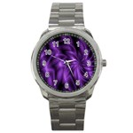 Lilac Swirl Sport Metal Watch