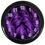 Lilac Swirl Wall Clock (Black)
