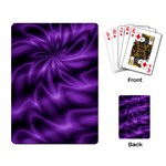 Lilac Swirl Playing Cards Single Design