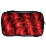 Red Swirl Toiletries Bag (Two Sides)