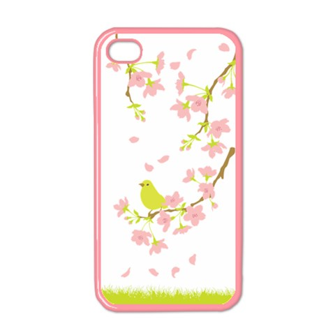 Spring Bird By Divad Brown   Apple Iphone 4 Case (color)   Wylljgz0bysd   Www Artscow Com Front