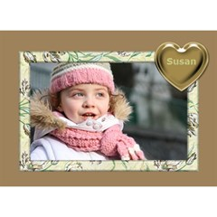 Gold Love 3d General Card By Deborah   Love 3d Greeting Card (7x5)   Ge1tpekeaicu   Www Artscow Com Front