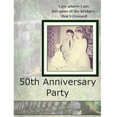 50th Anniversary Party 2 By Christine Lewis   Greeting Card 4 5  X 6    Rx399bfjjq0f   Www Artscow Com Front Cover