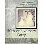 50th Anniversary Party 2 - Greeting Card 4.5  x 6