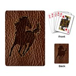 Leather-Look Horse Playing Cards Single Design