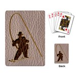 Leather-Look Fisherman Playing Cards Single Design