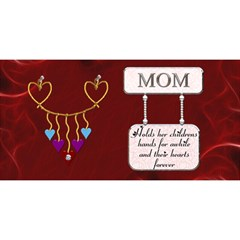 Mom 3d Card By Lil    Mom 3d Greeting Card (8x4)   P713nn6ey5gz   Www Artscow Com Front