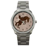 Leather-Look Rodeo Sport Metal Watch