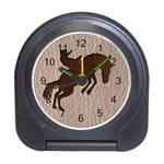 Leather-Look Rodeo Travel Alarm Clock