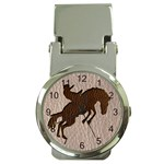 Leather-Look Rodeo Money Clip Watch
