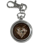 Leather-Look Heart  Key Chain Watch