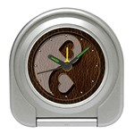 Leather-Look Yin Yang Travel Alarm Clock