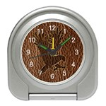 Leather-Look Eagle Travel Alarm Clock
