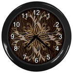 Leather-Look Star Wall Clock (Black)