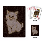 Leather-Look Kitten Playing Cards Single Design