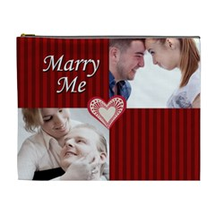 Marry Me By May   Cosmetic Bag (xl)   Acg8y8qef2df   Www Artscow Com Front