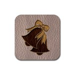 Leather-Look Wedding Rubber Square Coaster (4 pack)