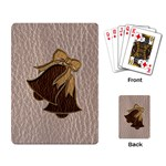 Leather-Look Wedding Playing Cards Single Design
