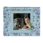Blue Wild Iris (XL) cosmetic Bag - Cosmetic Bag (XL)