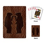 Leather-Look Black Bears Playing Cards Single Design