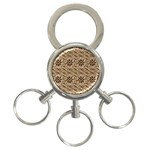 Leather-Look Ornament 3-Ring Key Chain