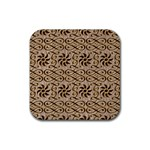 Leather-Look Ornament Rubber Square Coaster (4 pack)