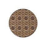 Leather-Look Ornament Rubber Round Coaster (4 pack)