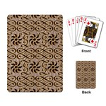 Leather-Look Ornament Playing Cards Single Design