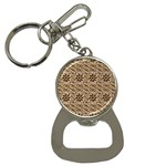 Leather-Look Ornament Bottle Opener Key Chain