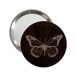 Leather-Look Butterfly 2.25  Handbag Mirror