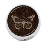Leather-Look Butterfly 4-Port USB Hub (Two Sides)