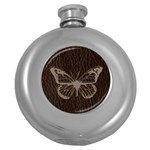 Leather-Look Butterfly Hip Flask (5 oz)
