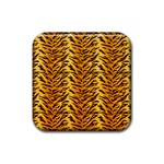 Just Tiger Rubber Square Coaster (4 pack)