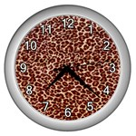 Just Leopard Wall Clock (Silver)