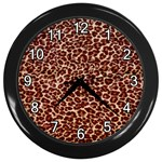 Just Leopard Wall Clock (Black)
