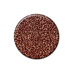 Just Leopard Rubber Round Coaster (4 pack)