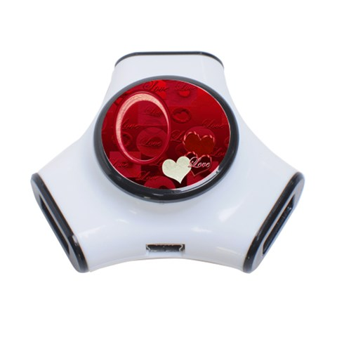 Red Love 3 Post Usb Hub By Ellan   3 Port Usb Hub   2x96lf5t6gk4   Www Artscow Com Front