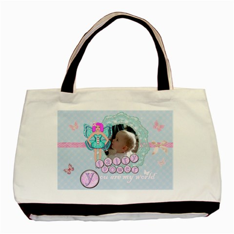 Pink Gingham Fairy Bag By Claire Mcallen   Basic Tote Bag   H50nz6snqysx   Www Artscow Com Front