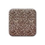 Just Snow Leopard Rubber Square Coaster (4 pack)
