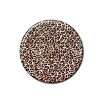 Just Snow Leopard Rubber Round Coaster (4 pack)