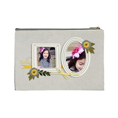 Large  Cosmetic Bag  Happiness By Jennyl   Cosmetic Bag (large)   Bq0cdsoxszb0   Www Artscow Com Back