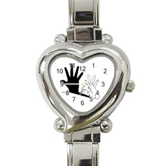 Rabbit Hand Shadow Classic Elegant Ladies Watch (heart) by rabbithandshadow