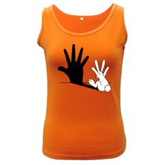 Rabbit Hand Shadow Dark Colored Womens'' Tank Top by rabbithandshadow