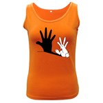 Rabbit Hand Shadow Dark Colored Womens'' Tank Top
