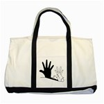 Rabbit Hand Shadow Two Toned Tote Bag