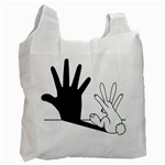 Rabbit Hand Shadow Twin-sided Reusable Shopping Bag