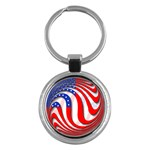 USA Key Chain (Round)